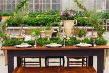Garden & Organic Wedding / Wedding Reception Ideas