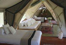 Glamping / Glamour + Camping = Glamping!