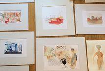 IBTG, Turin, Exhibition, Watercolor illustrations