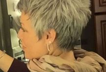 Grey short hair
