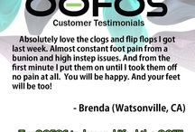 """OOFOS Testimonials / When you try on OOFOS and Feel The OO, feel free to 'Ooh and Ahh'. After all, that's where we got our name! The first lucky feet to try us on for size had instant feedback, """"Ooh they make you feel so good!."""