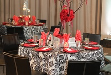 Black-red wedding