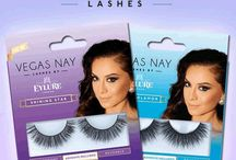 Vegas Nay Lashes by Eylure / The Vegas Nay by Eylure Collection is a Gorgeous jewel-toned packaging enhanced with gold, a perfect reflection of her flawless profile. The collection is individually tailored to show exactly what the lashes can do.