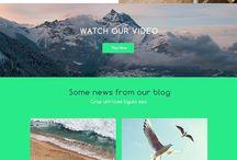 template inspiratie website/visitekaartjes