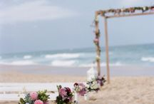 Beach Wedding Arbor, Arch & Aisle / Wedding arbor, arch and aisle ideas from beach weddings, tropical weddings and island weddings. Flowers and decorations for beach wedding ceremony including unique arch, aisle and arbor design.