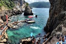 Unique place   / La Grotta, Beach bar, Corfu paleokastritsa