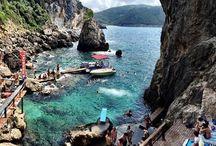 Unique place   / La Grotta, Beach bar, Corfu paleokastritsa
