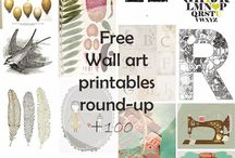 Free Printables and Wallart / Posters, pictures and cards