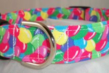 Easter Dog Collars / Easter martingale dog collars or buckle dog collars / by Buddy and Friends