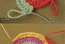 círculo crochet  varios colores