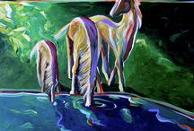 HORSE ART / Contemporary Southwest Paintings and Original Contemporary Western Paintings are available at http://lanceheadlee.com