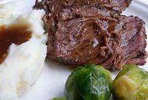 Slow cooker roast beef
