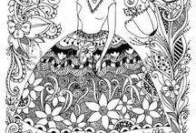 vrouwen zentangle