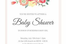 Invitations | Designs by TiffanyCo / Baby Shower . Wedding . Baptism