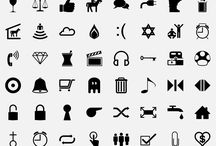 "icons & dingbat / Icons that I can use and edit in Illustrator.  I also like using Dingbat fonts in Illustrator by using the ""Create Outlines"" option making usable graphics."