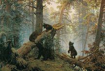 Утро в сосновом лесу. Шишкин Иван