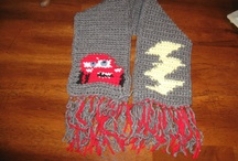 crochet scarf and cowls