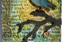 ATC cards  and art journalling i love ,, thank you for sharing xxxx / by Kat Gottke