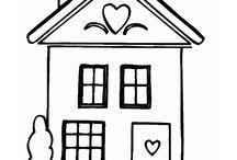 Coloriages de maisons / Retrouvez dans ces dessins de maisons les différentes sortes de maisons qu'il existe à travers le monde !