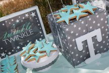 Christening | Twinkle Twinkle Little Star / A beautiful grey and mint christening, full of stars!