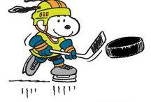 Peanuts Hockey / I love Snoopy and Woodstock on skates!
