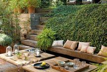 Jardines y terrazas rústicas