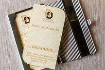 Wood Business Cards Dex-Druk / Eleganti ed originali biglietti da visita con il vostro progetto solo con noi!