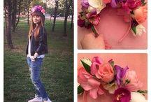 Ободки из цветов и ягод / Красота и стиль