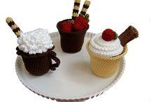 crochet coffee, cappachino etc