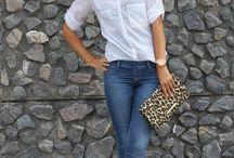 Белая рубашка + / Разные образы с белой рубашкой.