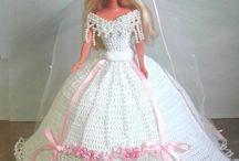 Crochet bridal doll