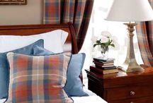 Kingsley Collection / The Kingsley collection is a classic collection of plaids, checks and co-ordinating plains. This delightfully woven linen with its attractive colours is as elegant on upholstered furniture as it is when draped.