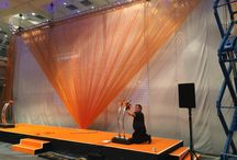 Gaming Awards - Stage / We created a stage set for an awards ceremony. The clients brand colour was orange so this was a must within the design. There was some