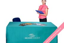 Printed Table Cloths | Exhibition Table Cloths / Your logo and designs printed on a Table Cloth from XL Displays. Perfect for exhibitions and trade show events. Send us your logo and we do the rest! Quality printed table cloths dispatched in 72hrs to anywhere in the UK.