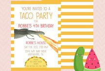 "Party Themes--Dragons Love Tacos Birthday / In my house, the 6th birthday is the ""party based on a favorite book"" year. Second daughter has selected this book which reaffirms my belief that my kids are the shiz."