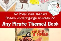Speech Therapy: Pirate Theme / Talk like a pirate day is September 19th. This board contains activities that will keep your students talking like pirates all month long!