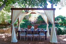 Farm Wood Cabanas! / A collection of event photos of Farm Wood Cabanas used at weddings and parties.