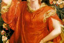 PRB - Dante Gabriel Rosetti, Edward Burne-Jones, John William Waterhouse and other Pre-Raphaelite
