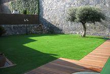 Césped artificial  patio pequeño