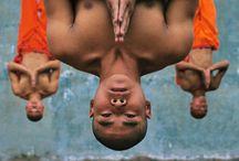People in strange positions / by Karin Sebelin