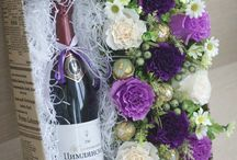 вино в цветах.подарки