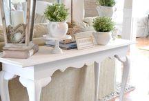 Sofa table / by Nikki Hall