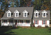 Cape Cod Home Exteriors / The Cape Code is a very popular style of home in North and South Carolina. Madison Homebuilders, a custom homebuilder based in NC and SC, offers a number of customizable Cape Cod home floor plans.