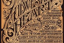 lettering, typography
