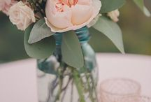 tiffany blue and peach wedding