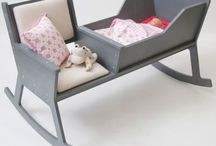 Neat Furniture / Rocker and Bassinet combo