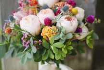 Flowers / Floral inspo for my wedding, including actual centrepieces