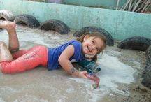 Mud Glorious Mud!! / We love mud, we love dirt, we love soil, we love sand, we love grass, we love water, we love bubbles and most of all we love children being children and being forever happy and having fun.  Emerald City Nursery, Al Wasl, by Box Park, Dubai