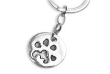 Silver Pet Prints Keyrings