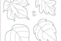 moldes hojas, corazones